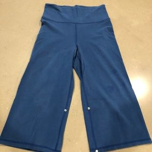 Lululemon wide leg crops - throwback!